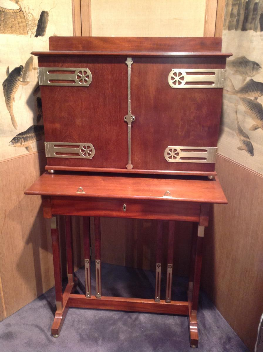 Art Nouveau - Bureau En Acajou
