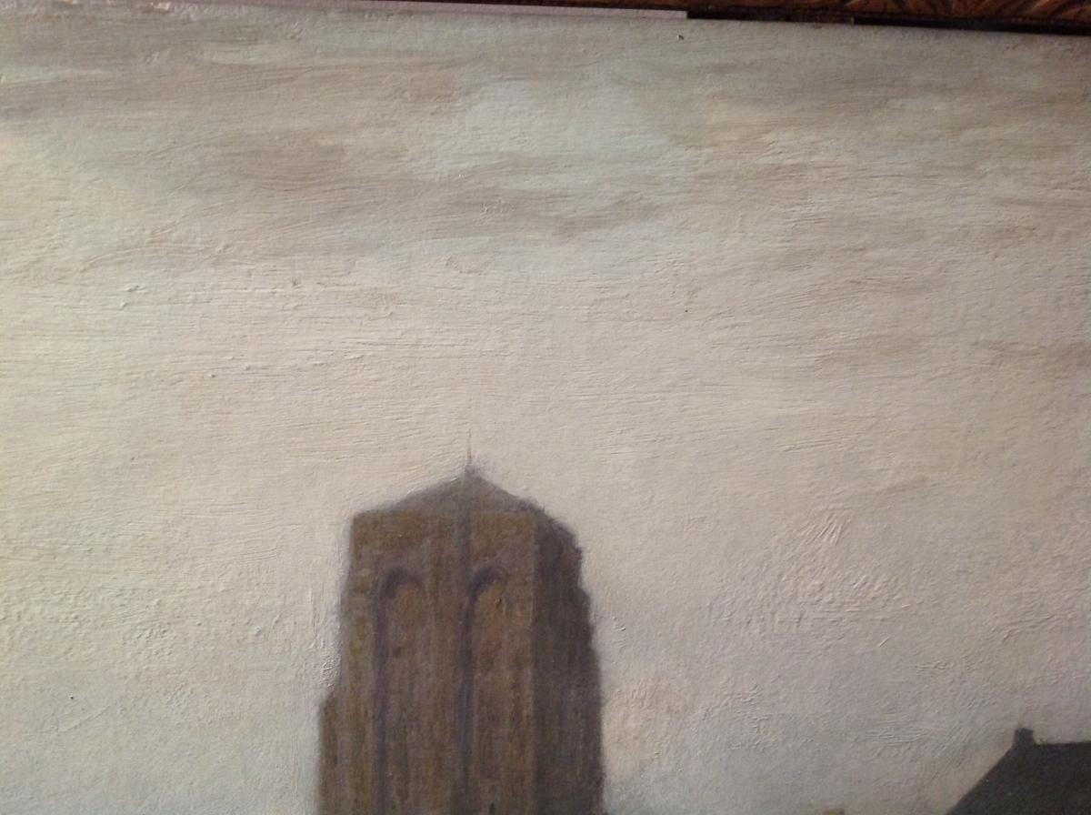"Ra Ulmann - Painting ""landscape At Twilight"" 1910-photo-4"
