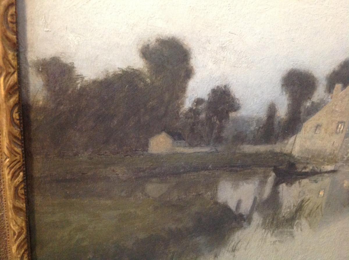 "Ra Ulmann - Painting ""landscape At Twilight"" 1910-photo-1"