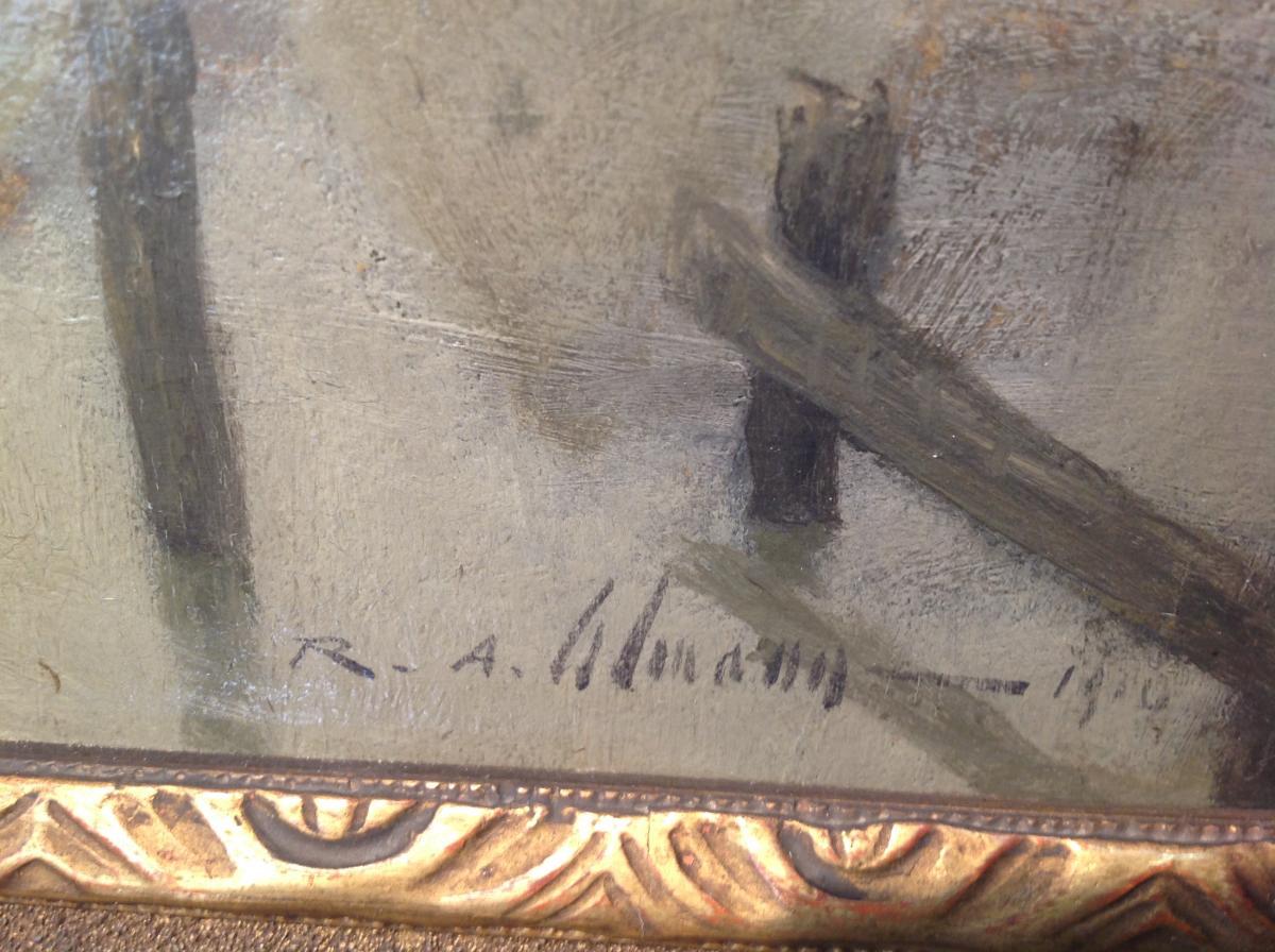 "Ra Ulmann - Painting ""landscape At Twilight"" 1910-photo-2"