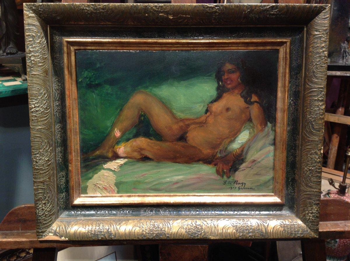 "Z. Nagy - Painting ""the Tigress"" Oil 1917"