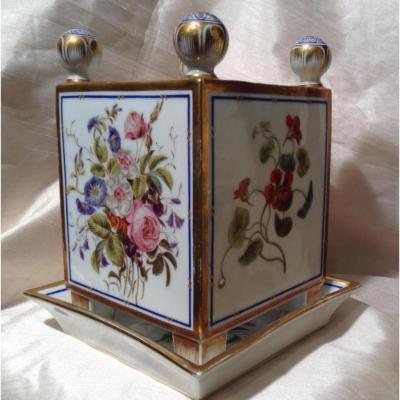 Cache-pot Porcelaine De Paris Décor De Fleurs 19ème