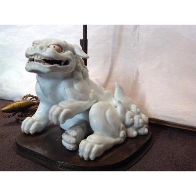 Pied De Lampe En Porcelaine Japon Hirado 19eme