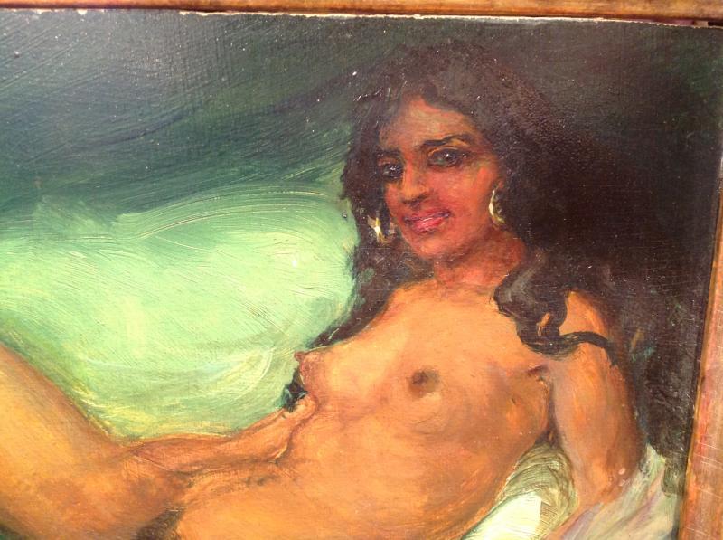 "Z. Nagy - Painting ""the Tigress"" Oil 1917-photo-2"