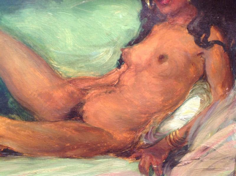 "Z. Nagy - Painting ""the Tigress"" Oil 1917-photo-3"
