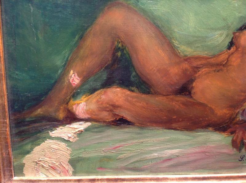 "Z. Nagy - Painting ""the Tigress"" Oil 1917-photo-4"