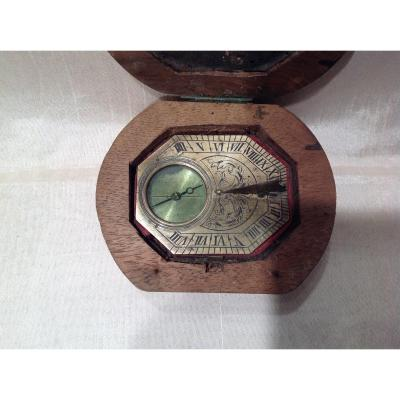 18th Sundial Compass In Its Box