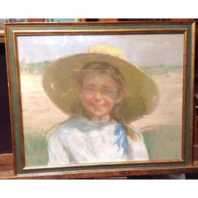 Portrait Of Young Girl In The Sun 1900