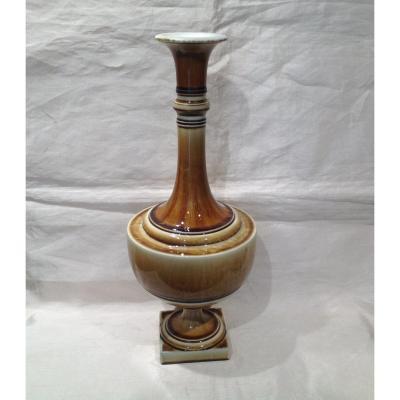 Sèvres - Grand Vase En Porcelaine 1895 Dans Un Dégradé De caramel