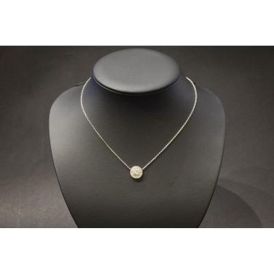 Collier Vintage en Or Blanc et Diamants