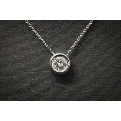 Collier Vintage en Or Blanc et Diamant