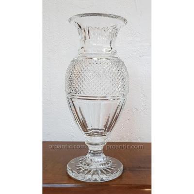 Baccarat Vase en Cristal Diamant