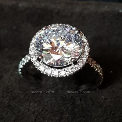Bague Diamants et Or Blanc, XXème Siècle