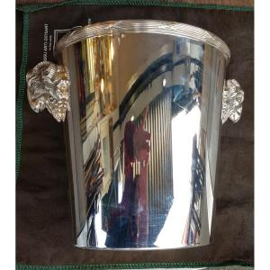Christofle Champagne Bucket In Silver Metal, 20th Century