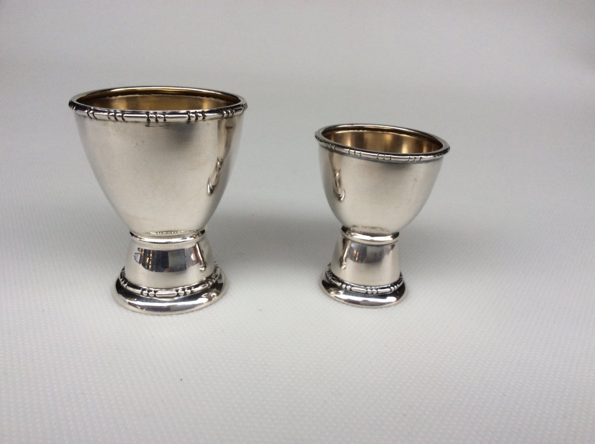 Timpani And Egg Cup In Sterling Silver