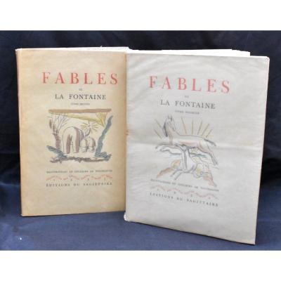 Les Fables De La Fontaine - Illustrations De Touchagues 1931 Numéroté