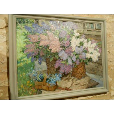 Tableau composition florale - Ecole Russe