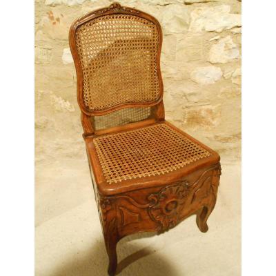 Chaise d'Aisance d'époque Régence