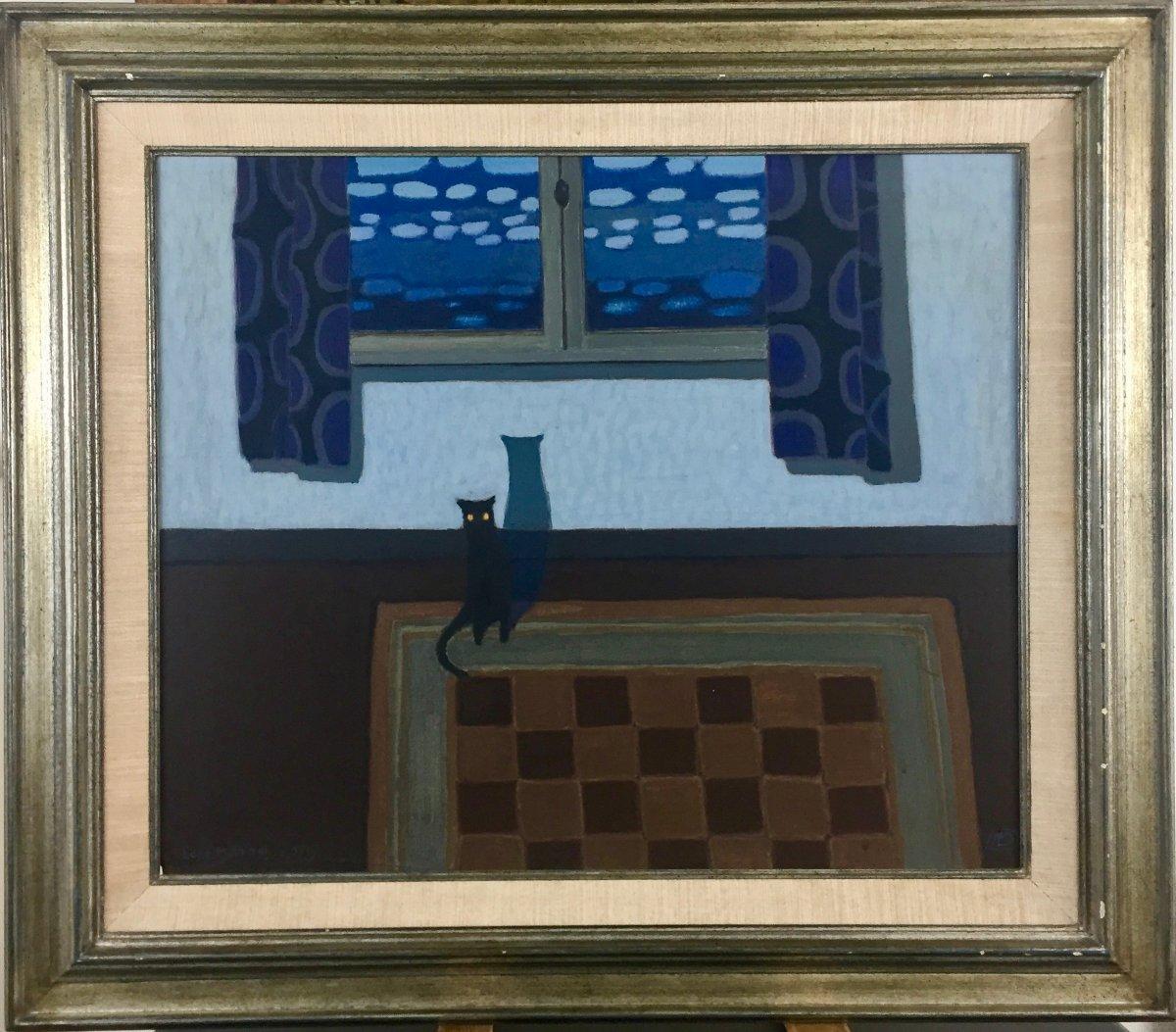 Chat dans un intérieur