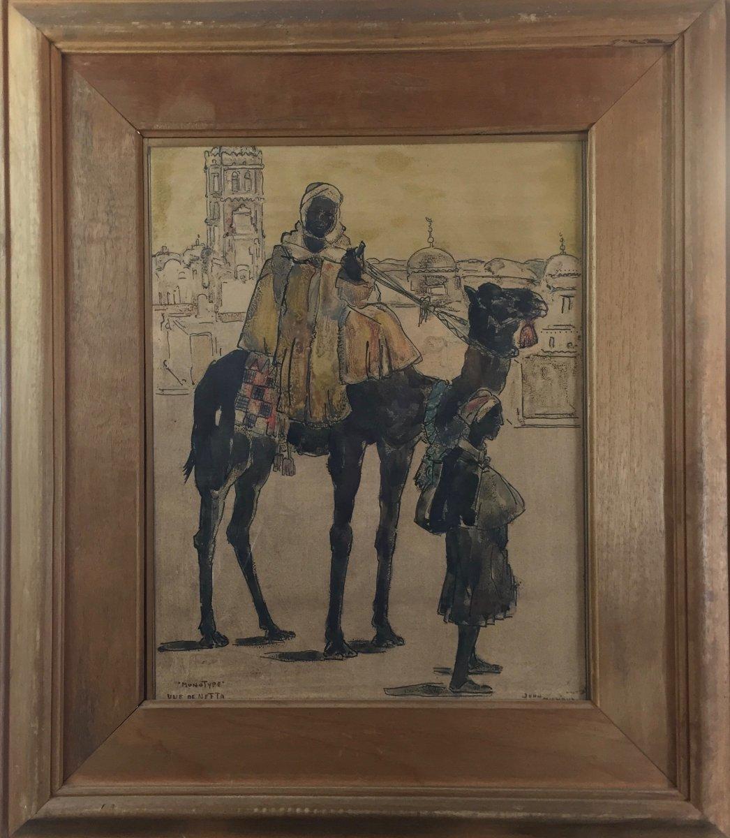 John Michaux (1876-1957), View Of Nefta Morocco