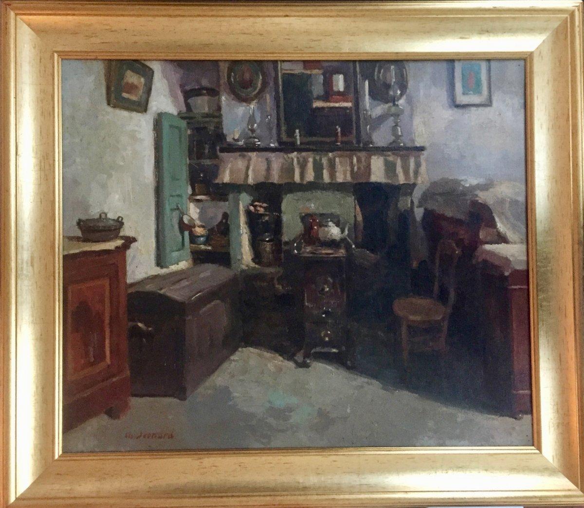 Charly Léonard (1894-1953), Intérieur De Ferme