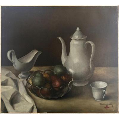 Fernand Wéry (1886-1964), Still Life With Coffeepot. Ca .1925