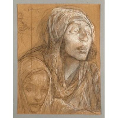 Jules Van Biesbroeck (1873-1965), Mendiante Aveugle