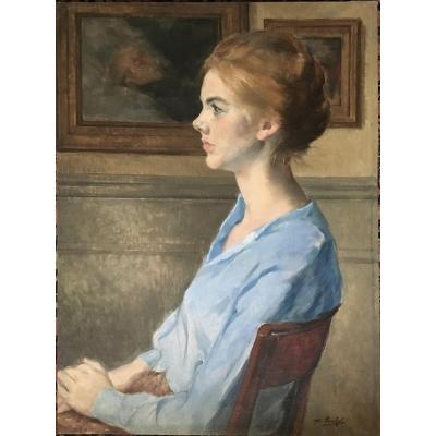 Georgina Iserbyt (1915- 2001), Portrait Of A  Woman