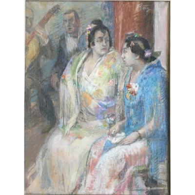 Pau Roig Cisa (1879-1955),  Flamenco, vers 1906