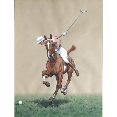 F. Reboux  20th Century, Polo Player