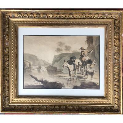 Pietro Palmieri Il Vecchio(1737-1804)  Le Passage Du Gue