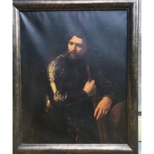 Follower Of Rembrandt The Sentinel, Oil On  Canvas