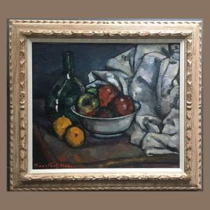 Médard Maertens Still Life. Oil On Canvas 45x55cm Signed