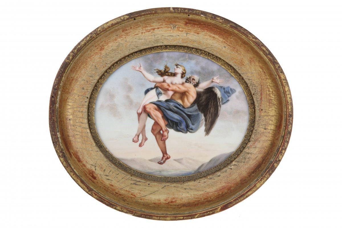 Porcelaine Ovale Peinte