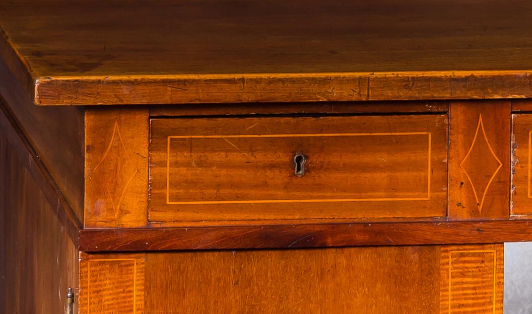 Bureau en acajou à portes et tiroirs-photo-3