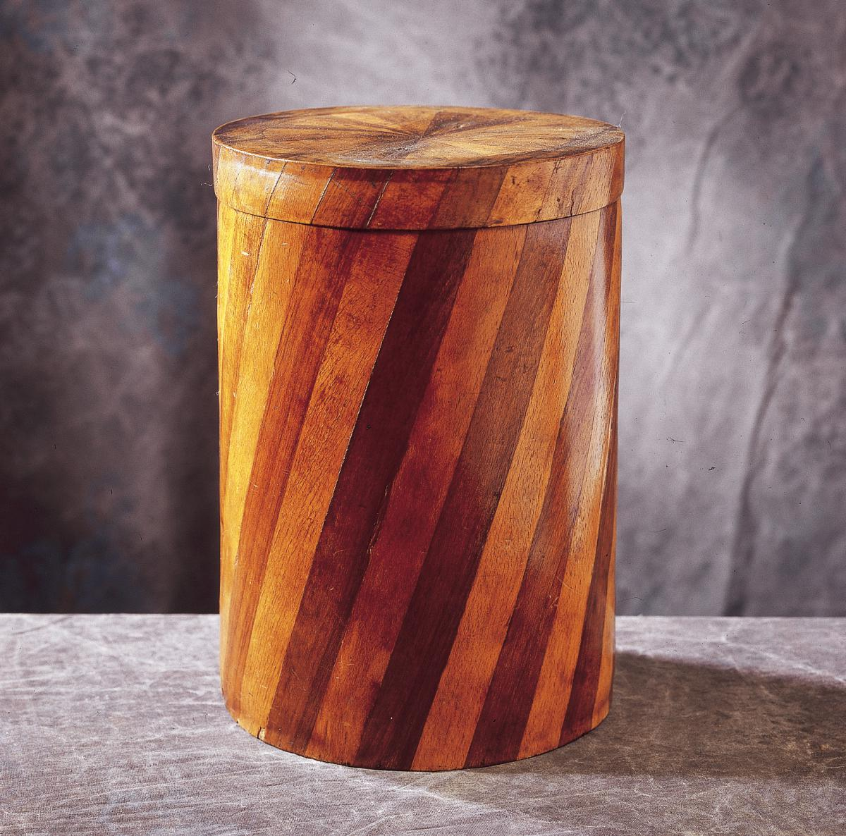 Wig Box Maple Walnut Marquetry Alsace
