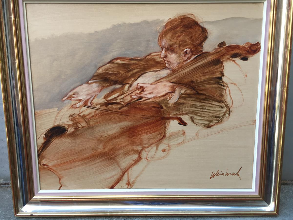 Painting By Claude Weisbuch The Violinist
