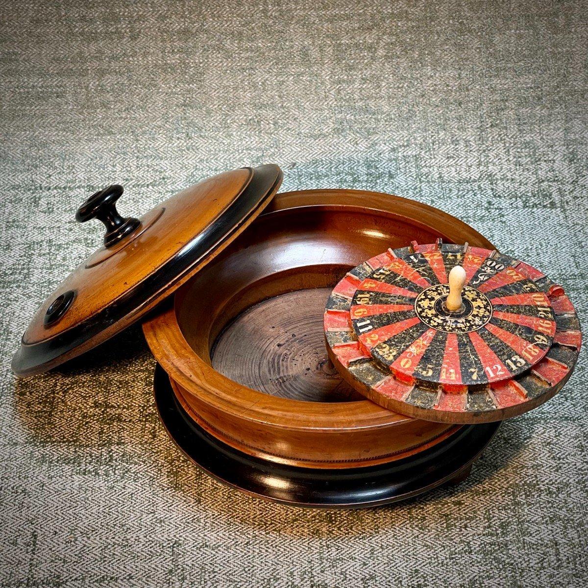 petite roulette de table 19ème-photo-2