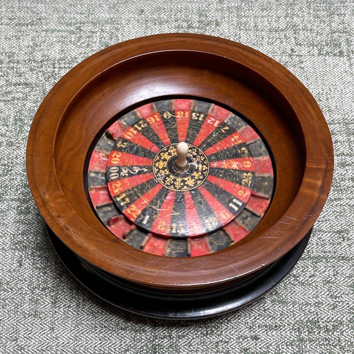 petite roulette de table 19ème-photo-3
