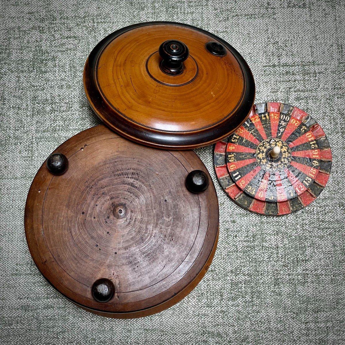 petite roulette de table 19ème-photo-4