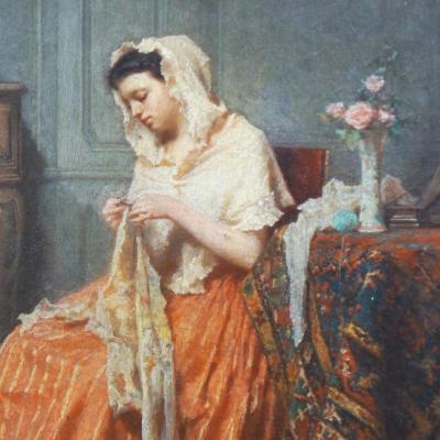 Plassan Antoine Emile (1817-1903) Paire - Les élégantes