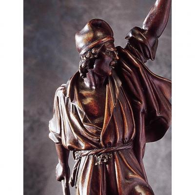 Statue d'Un Combattant - Garibaldi - Noyer XIX ème