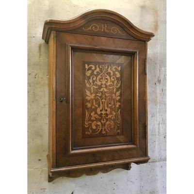 Small Wardrobe Or Wardrobe Hanging Walnut Inlaid
