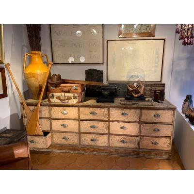 Large Craft Cabinet With 15 Drawers In Fir 1900