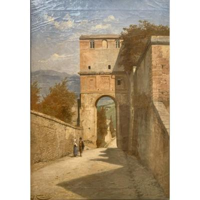 Perouse Or Perugia By Jacques Carabain (1834-1933)