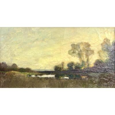 Paysage Impressionniste signé Paul Buffet (1864-1941)