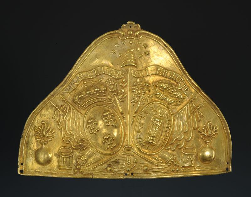 Bonnet De Plate In Hair Officer Of The National Guard, Constitutional Monarchy, 1789-1717