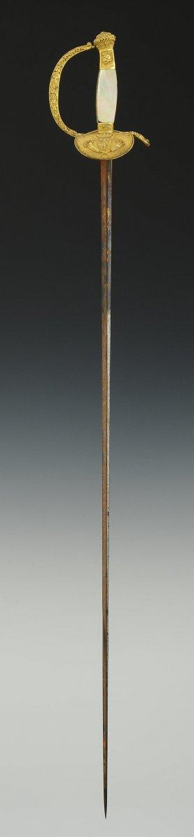 Épée d'Officier Supérieur Des Commissaires Des Guerres, Restauration.