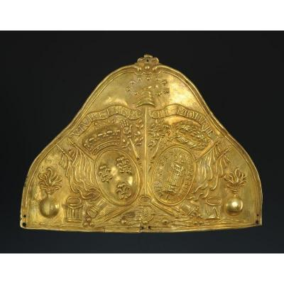 Plaque De Bonnet À Poils d'Officier De La Garde Nationale, Monarchie Constitutionnelle, 1789-17