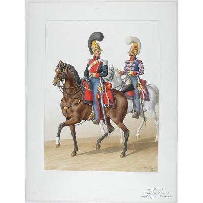 1822. Adjudant-major, Trompette (5e Régiment - De l'Hérault)